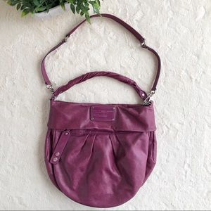 Marc by Marc Jacobs pink leather hobo shoulder bag